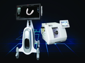 3M™ True Definition Scanner shown with the IOS Glidewell TS 150™ mill with IOS FastDesign