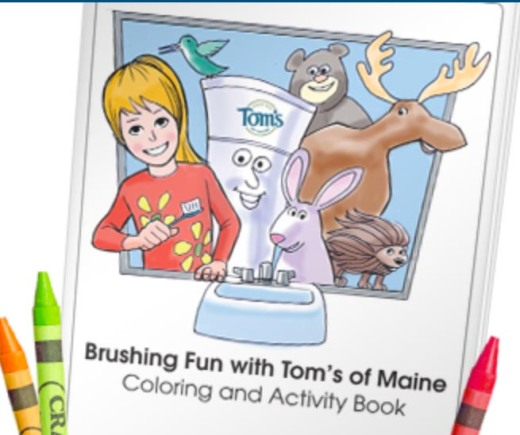"According to DentalTown.com, a new coloring book from Tom's of Maine, called ""Brushing Fun,"" introduces kids to natural oral care. Each free coloring book download will donate 10 tubes of Wicked Cool! natural kids toothpaste to Oral Health America (OHA), up to 200,000 tubes."