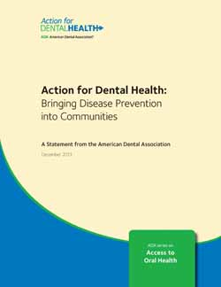 ADA issues disease prevention paper, shown here.