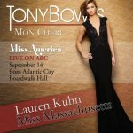Miss Massachusetts Lauren Kuhn, photo courtesy Tony Bowls, will compete tonight  for the title of 2015 Miss America.