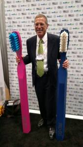 Benco Dental Territory Rep Lenny Lenz isn't only a talented salesman, he's also a gifted craftsman - of giant toothbrushes (shown)!