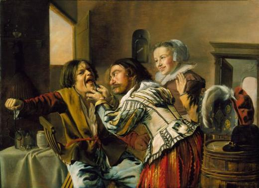 Photo courtesy http://ncartmuseum.org Jan Miense Molenaer, The Dentist, 1629