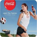 Olympic athlete promoting Coca-Cola.