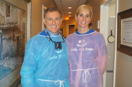 Dr. Amber Wiebe and husband, Dr. Olivier Broutin. http://www.thedestinlog.com/community/husband-and-wife-dentists-donate-20-000-in-free-dentistry-1.465670