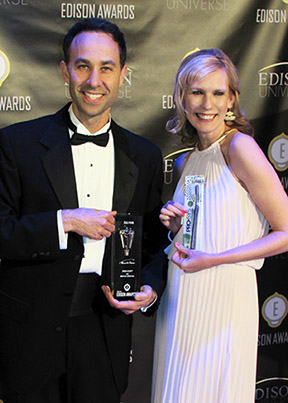 Richard Cohen, PRO-SYS® toothbrush developer and a Benco Dental Managing Director, joined hundreds of senior executives from some of the world's most recognized companies to acknowledge the 2015 Edison Award winners. Cohen and Mandy Hull, Private Label Sr. Product Manager for Benco Dental, (shown) accepted the Silver Edison Award for PRO-SYS during the April 23 Edison Awards event at The Capitale in New York City.