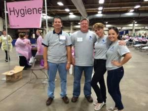 Benco Dental's Dan Adair, Ted RIngsdorf, Rachel Pugh and Keely Brazil at a Mom-n-PA 2014 event in Allentown.