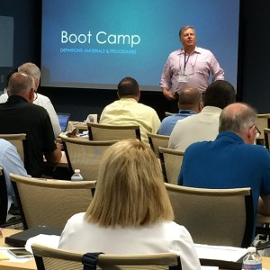 Benco Dental CAD/CAM Product Specialist Mark Nelson serves as a smiling drill instructor during Day 1 of the Northeast District Boot Camp in Pittston, Pa.