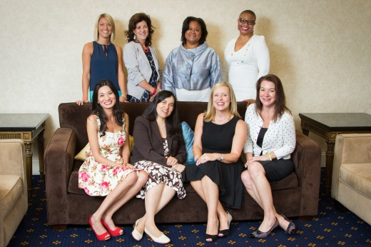 Award recipients at the Lucy Hobbs Project annual Celebration hosted June 4 and 5 in Baltimore. Front row, from left: 2015 Humanitarian Award - BB Maboby Bahadarakhann, 2015 Mentor Award - Dr. Luz Marina Aguirre, 2015 Innovator Award - Dr. Lindsay Limbaugh, 2015 Clinical Expertise Award - Dr. Kendra S. Schaefer. Back row, award presenters and recipients 2015 Benco Dental Trailblazer Award -  Kealy Akin,  2014 Industry Icon Award - Dr. Mary Hartigan, 2014 Innovator Award - Dr. Karen Gear, 2013 Clinical Expertise Award - Dr. Lynda Dean-Duru.