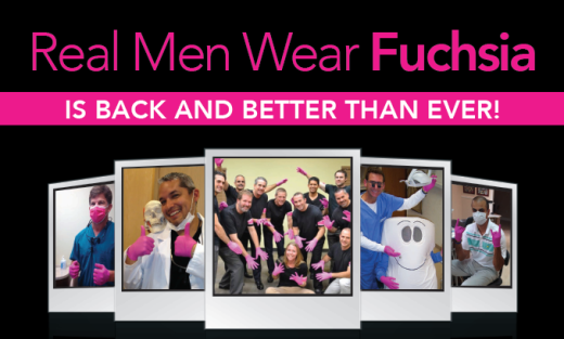 The Real Men Wear Fuchsia contest is returning for 2015 and it's better than ever, according to Benco Dental. With each box of Nitrile Plus Fuchsia Large Gloves and masks purchased, a donation is made to the Keep A Breast Foundation ™, whose mission is to help eradicate breast cancer by exposing young people to methods of prevention, early detection and support.