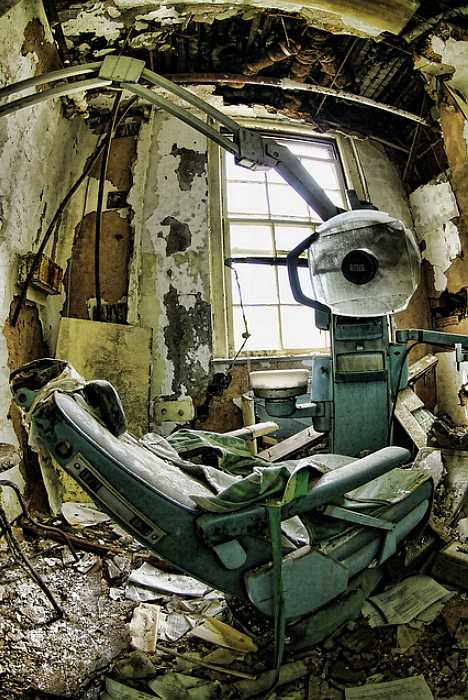 This image courtesy PolyurethaneWheels, depicts a dentist office onsite at the former Forest Haven children's psychiatric hospital in Laurel, Maryland.