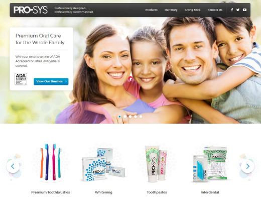 Benco Brands relaunched the PRO-SYS website this week, with new features and details about the oral health care family.