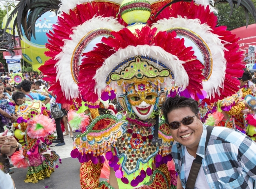 The Masskara Festival is held every year in October and is designed to uplift the spirits of the people in the City of Smiles, as seen in Bacolod, Philippines on October 18, 2015.