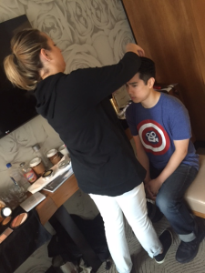Dr. Jeff Shao gets red-carpet ready during #TheIncisalEdge #40Under40 photo session in New York City May 6 with a little help from the Forbes style team.