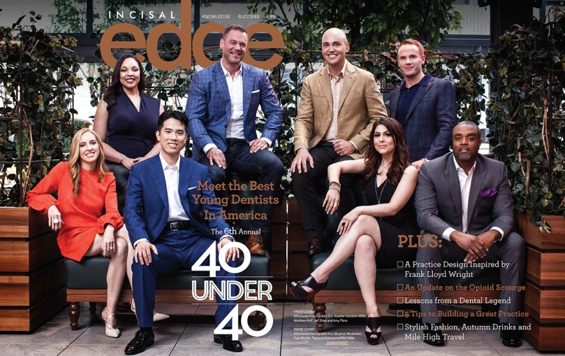 Last year's 40 Under 40 Magazine Photoshoot.