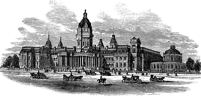 San Francisco City Hall in America vintage engraving