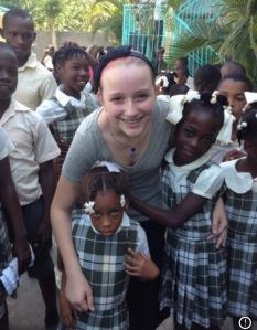 Emma and sponsor children 2013