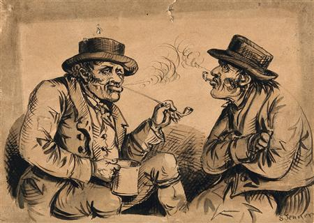 Victorian pipe smokers