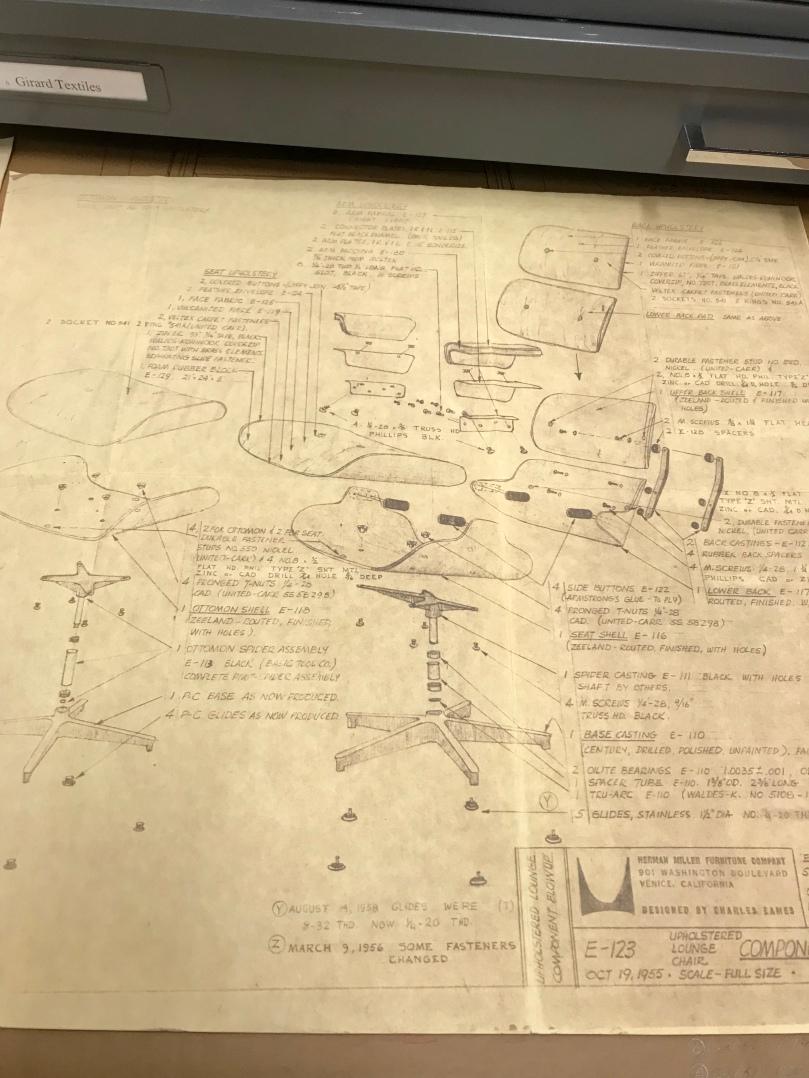 eames lounge chair blueprints