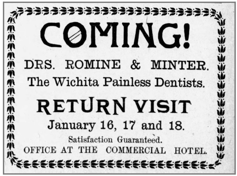 Painless_Dentist_ad_LeotiStandard_Kansas_Jan12_1905 - Newspapers