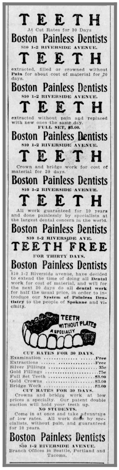 Painless_dentist_SpokaneChronicleWash_oct21_1904 - Newspapers.co
