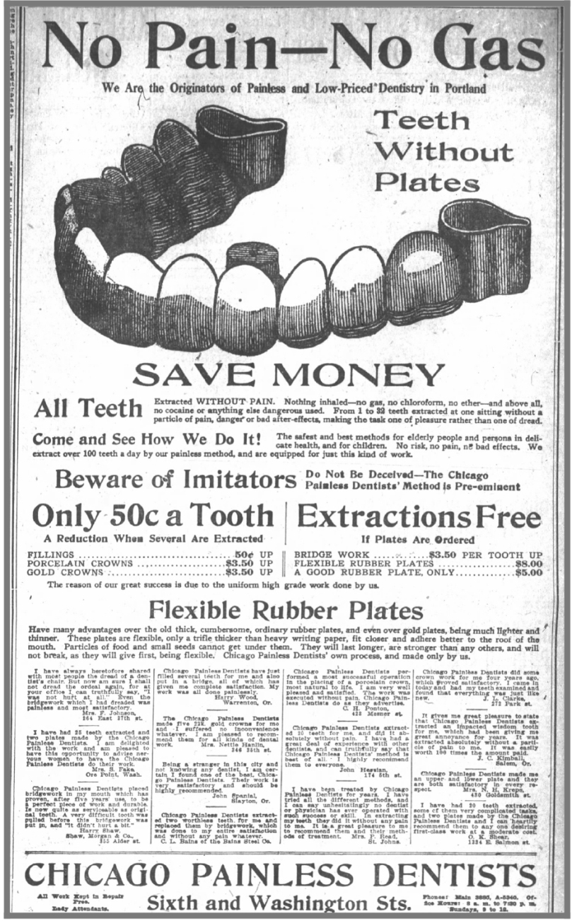 Painless_Dentists_OregonDailyJournal_Sept3_1908 - Newspapers.com